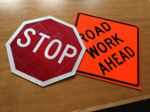 3M Barcoded Road Signs